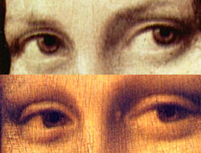 Mona Lisa Augen